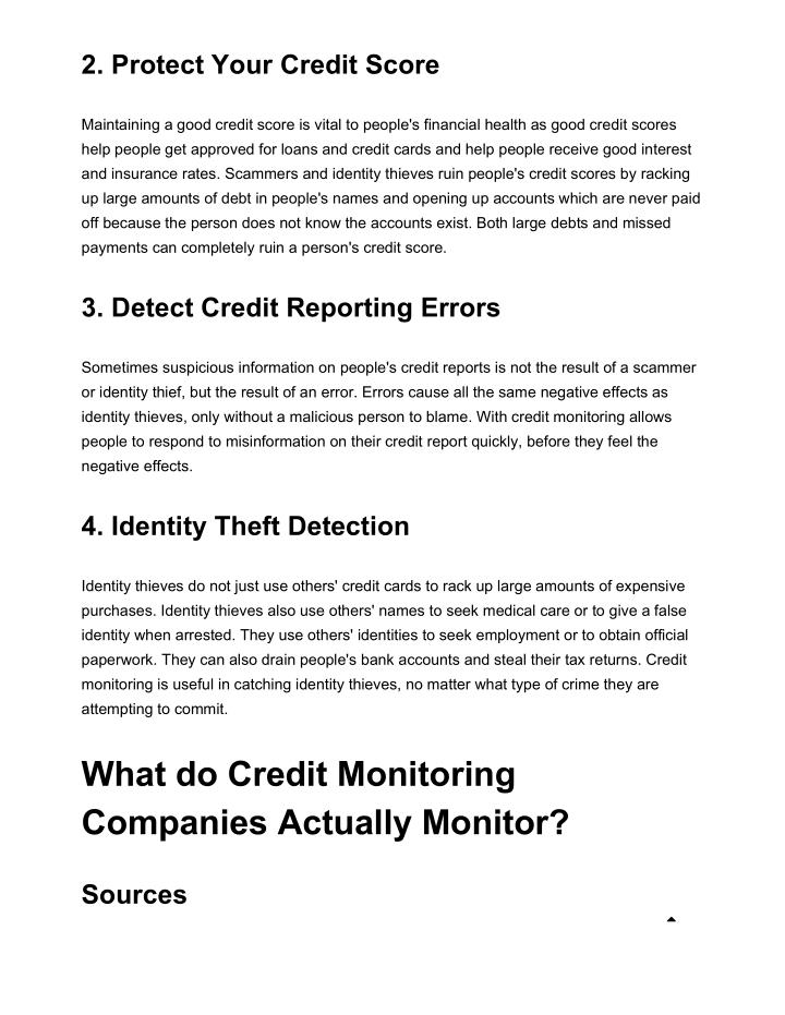 2. Protect Your Credit Score