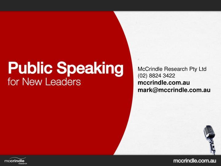 McCrindle Research Pty Ltd