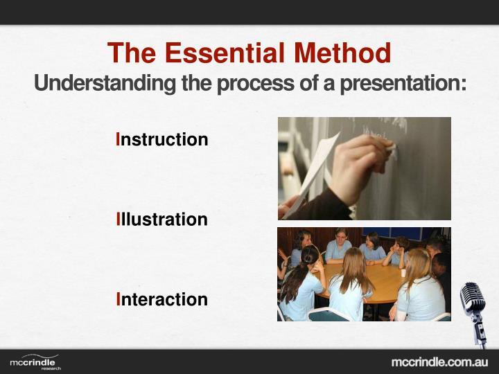 The Essential Method