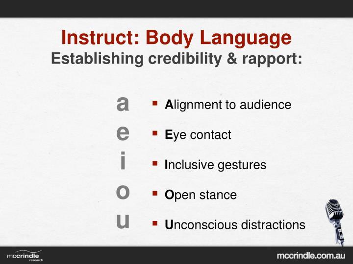 Instruct: Body Language