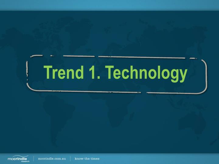 Trend 1. Technology