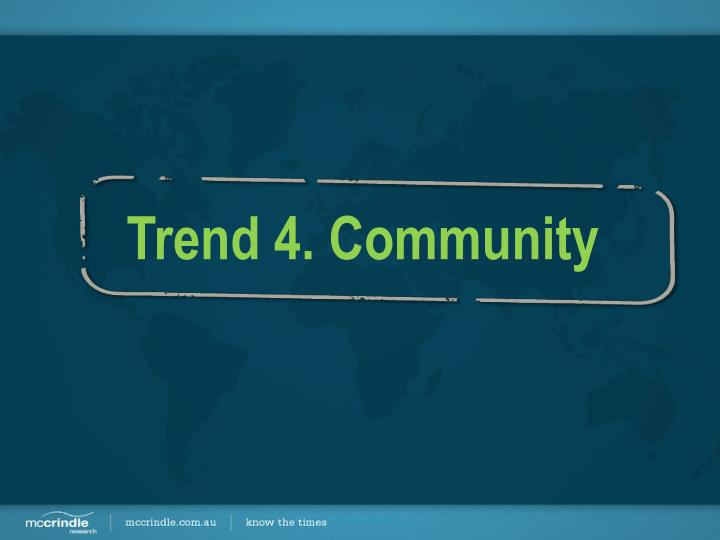 Trend 4. Community