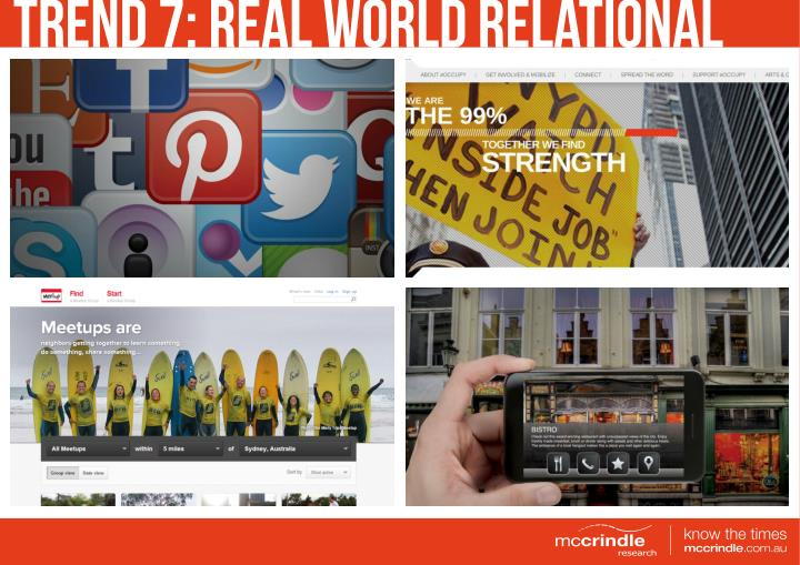 TREND 7: REAL WORLD RELATIONAL