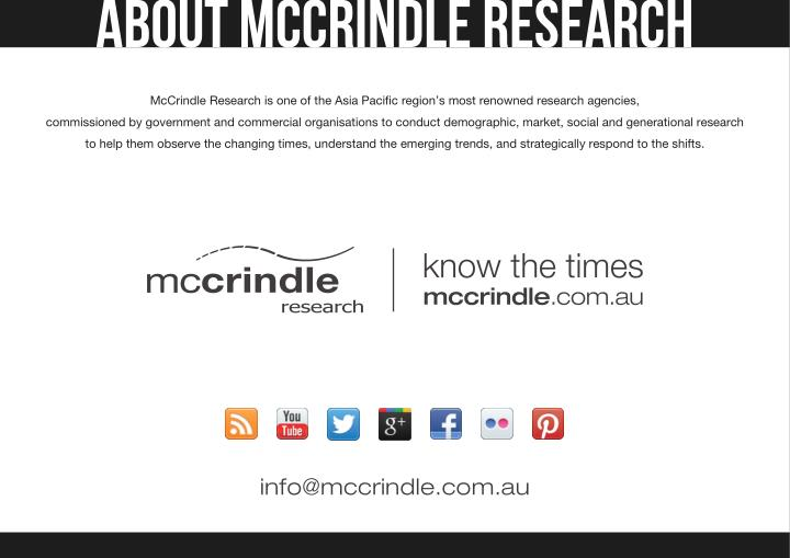 ABOUT MCCRINDLE RESEARCH