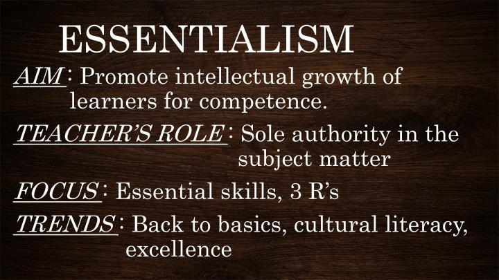 Define essentialist
