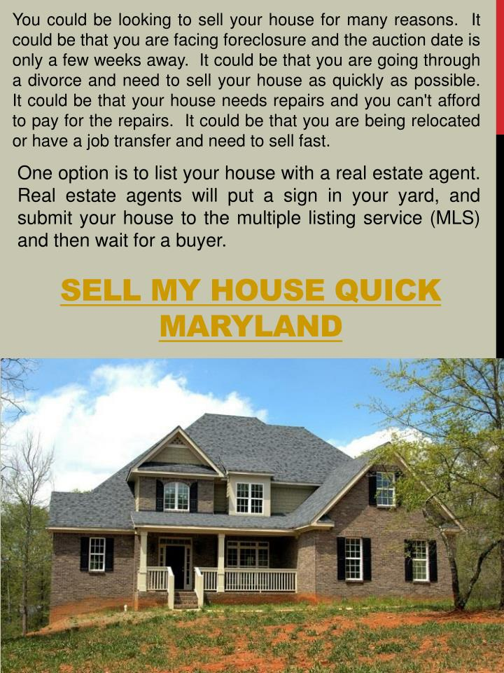PPT - We Buy Houses Maryland PowerPoint Presentation