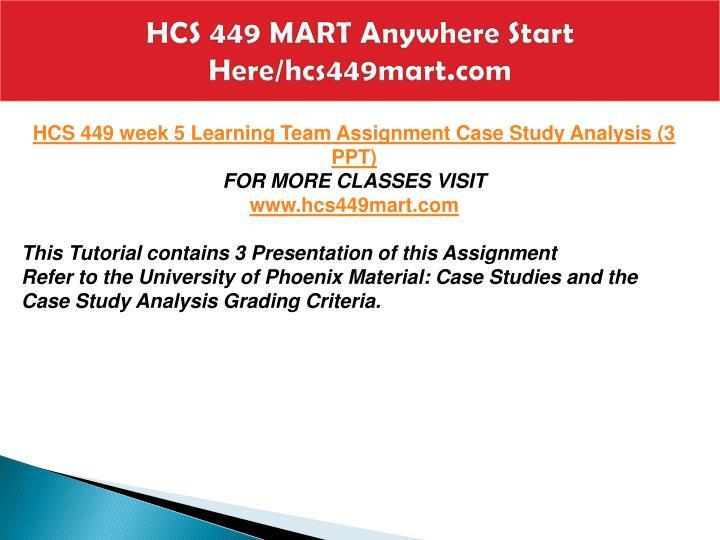 HCS 449 UOP Course Tutorial / tutorialsale