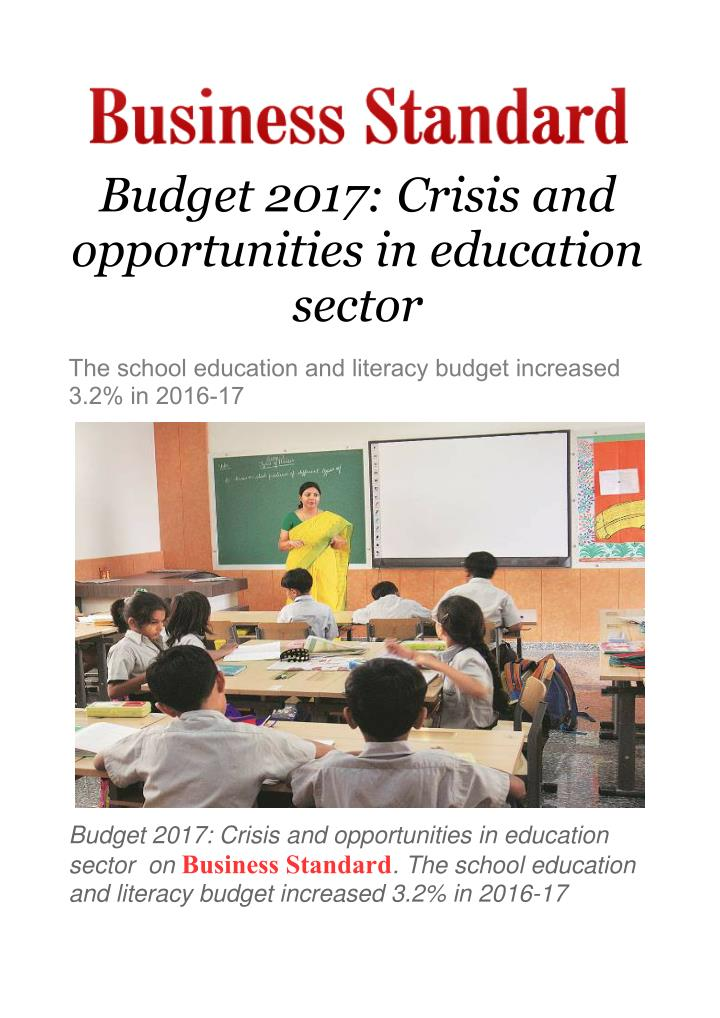 the crisis in the educational sector Crisis and conflict negatively affect the education of 80 million children during major conflicts and crises,  related sectors of work education last updated:.