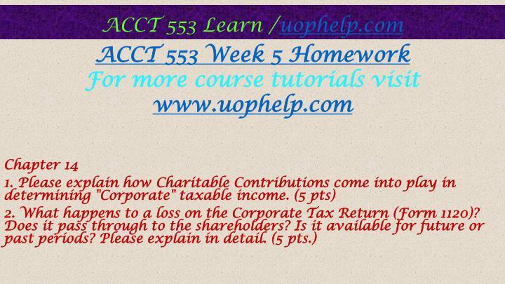acct 553 week 3 homework es
