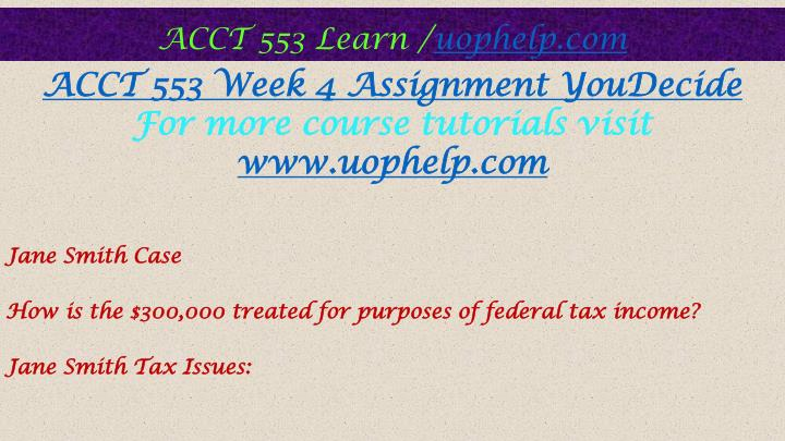 acct 553 week 5 Acct 553 week 5 homework purchase here product description (chapter 14) • 24 what is the purpose of the dividends.