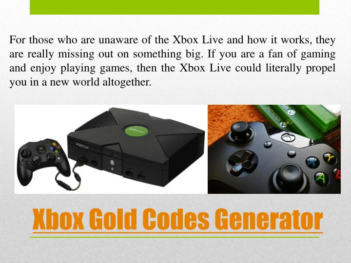 how to get free xbox live gold codes generator