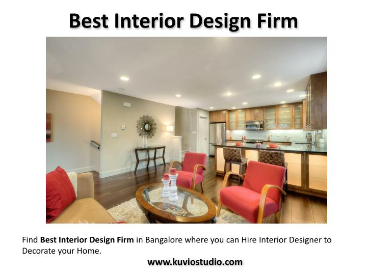 Ppt hire interior architects designers in bangalore for Top interior design firms
