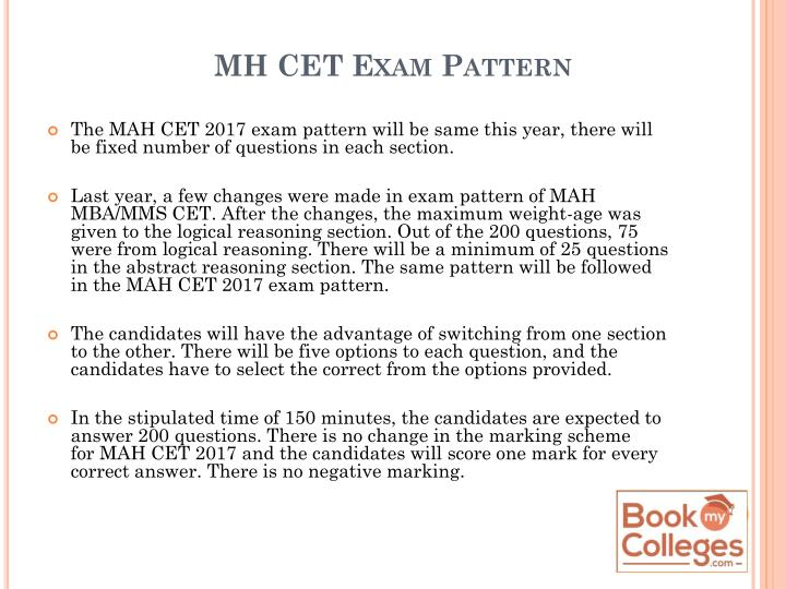 MH CET Exam Pattern