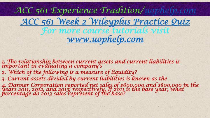 acc561 wileyplus week 6 e23 1