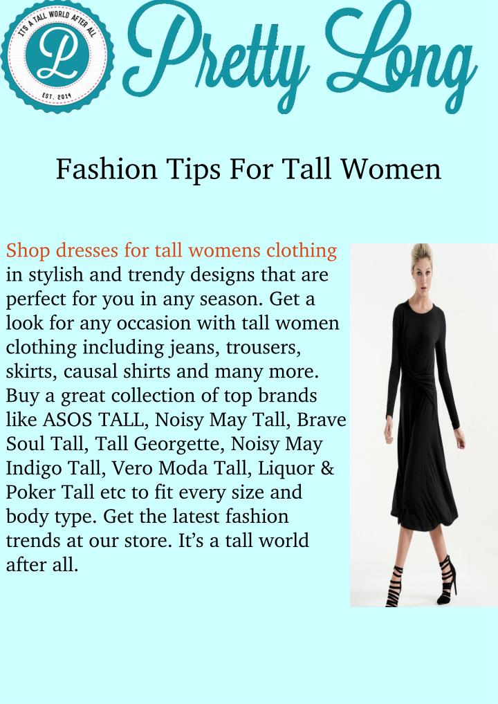 Ppt Dresses For Tall Women Powerpoint Presentation Id