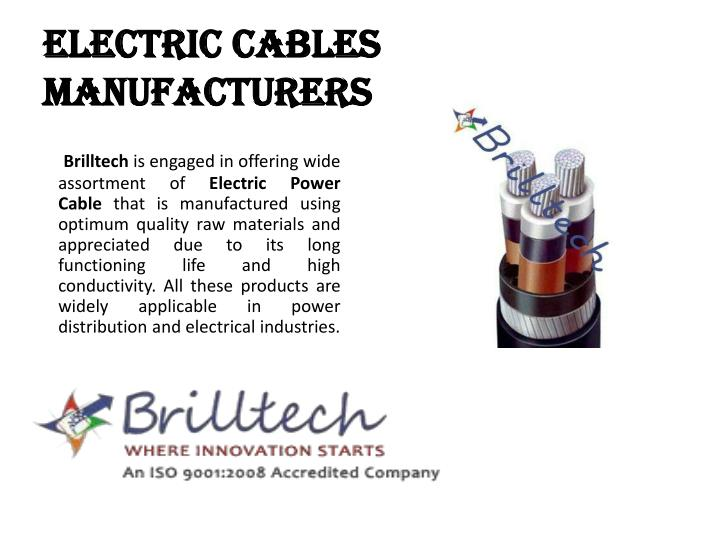 Electric Cable Manufacturers : Ppt electric cables manufacturers in delhi
