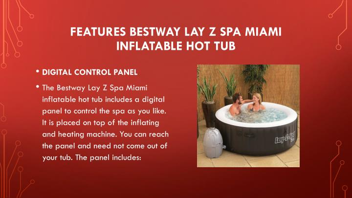 ppt bestway lay z spa miami inflatable hot tub review. Black Bedroom Furniture Sets. Home Design Ideas