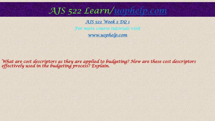 ajs 522 expenditures and revenue matrix Ajs 522 uop course tutorial/ tutorialoutlet ajs 522 week 1 individual assignment expenditures and revenues matrix and ajs 522 week 4 the city of san diego.