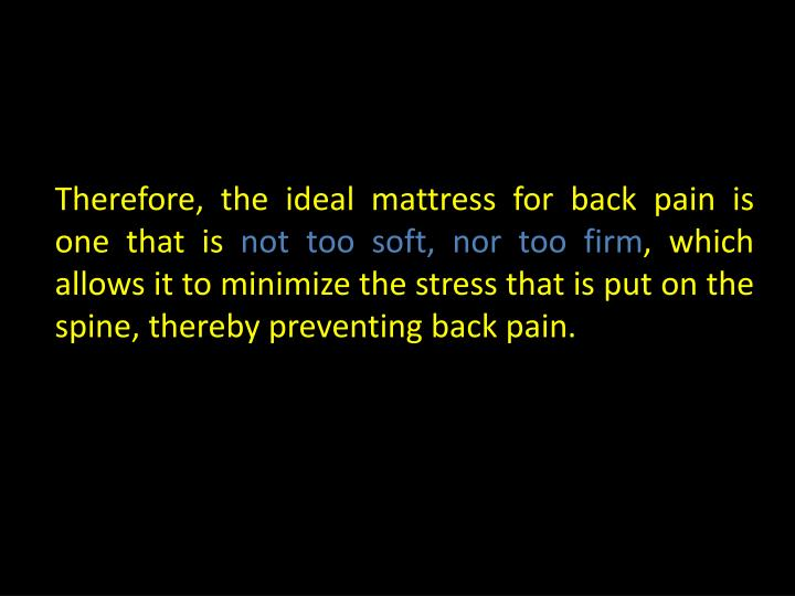 PPT Which Is The Best Mattress For Those Suffering From
