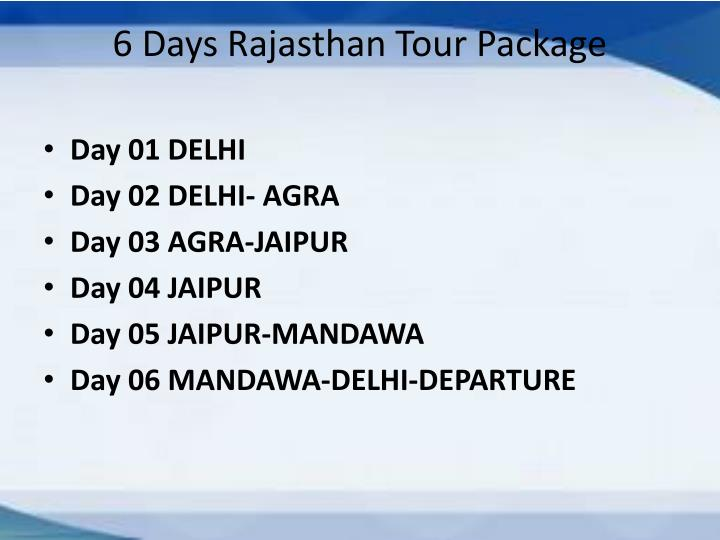 6 Days Rajasthan Tour Package
