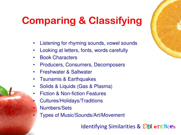 Comparing & Classifying