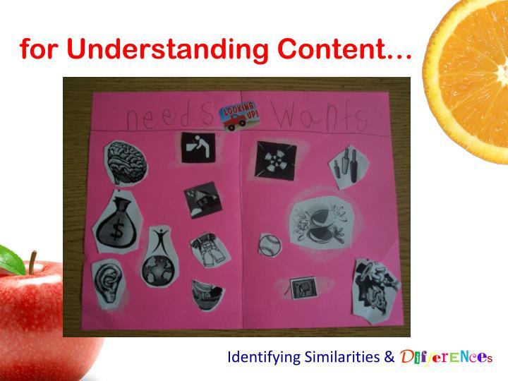 for Understanding Content…