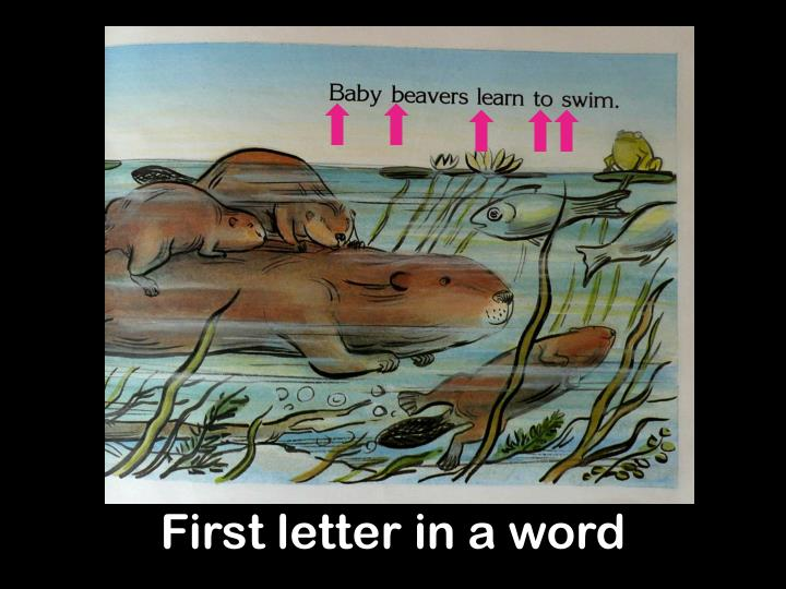 First letter in a word