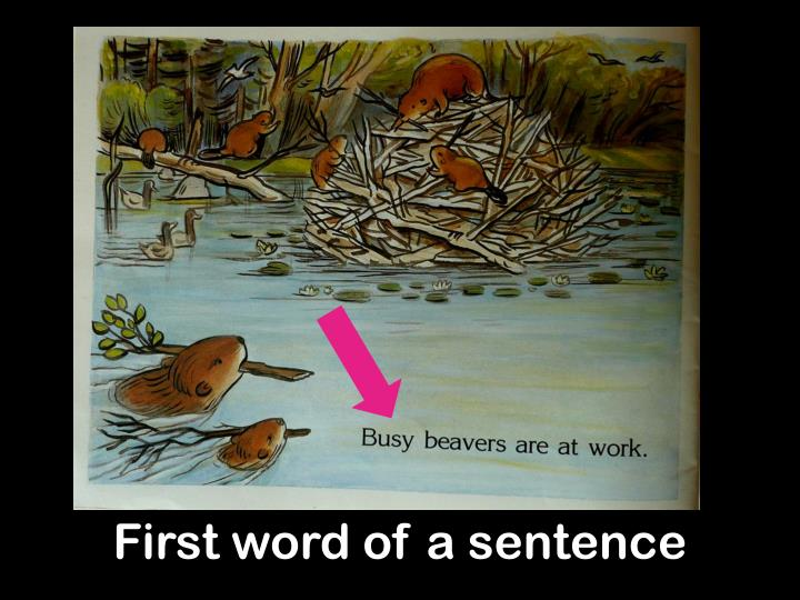 First word of a sentence