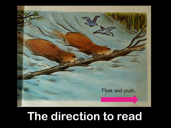 The direction to read
