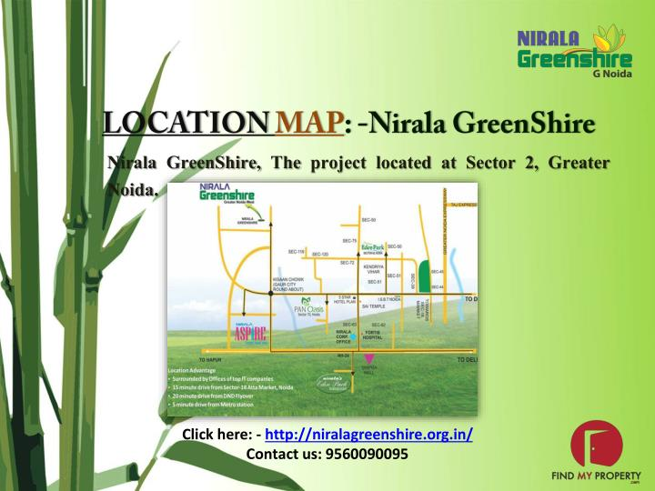 Nirala GreenShire, The project located at Sector 2, Greater Noida.