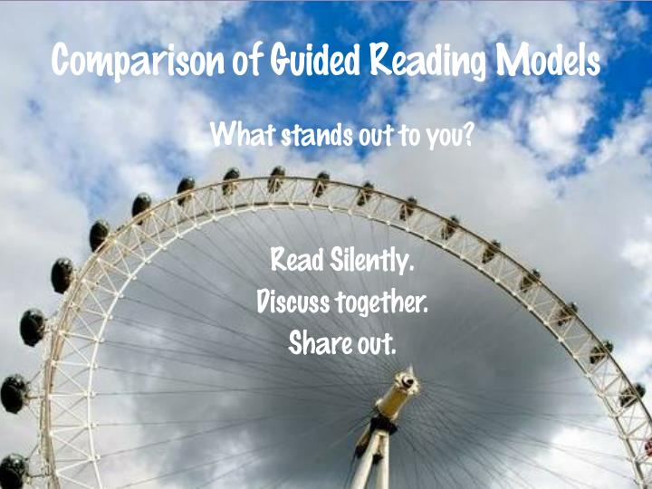 Comparison of Guided Reading Models