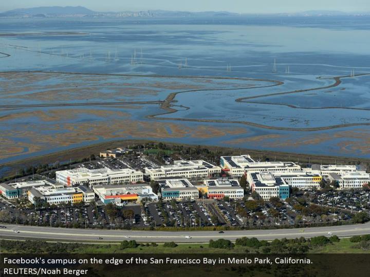 Facebook's grounds on the edge of the San Francisco Bay in Menlo Park, California. REUTERS/Noah Berger