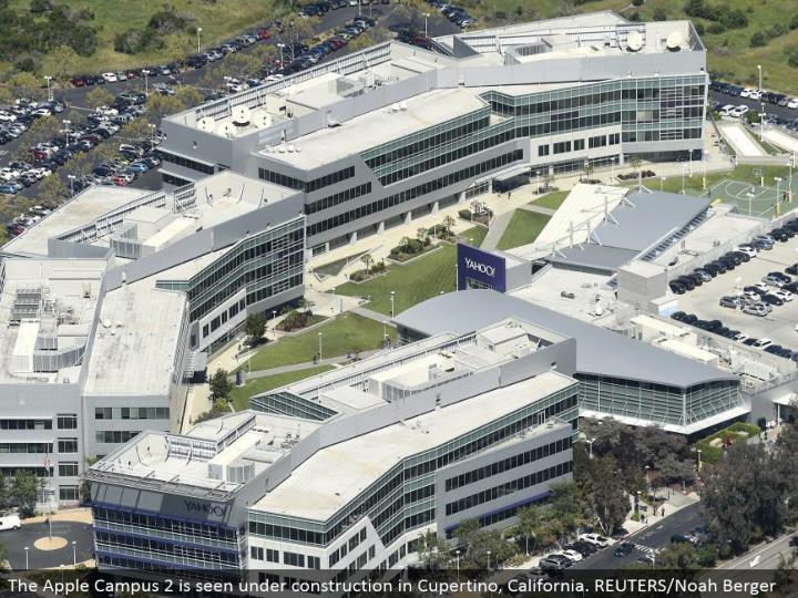 The Yahoo grounds in Sunnyvale, California. REUTERS/Noah Berger