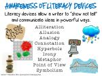 awareness of literacy devices literacy devices