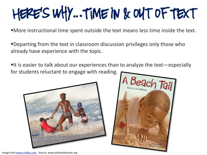 Here's Why…Time In & out of Text