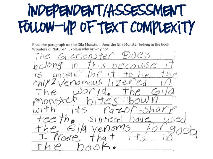 Independent/Assessment