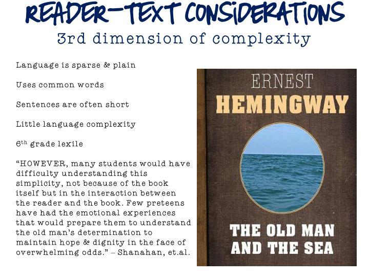 READER-TEXT Considerations