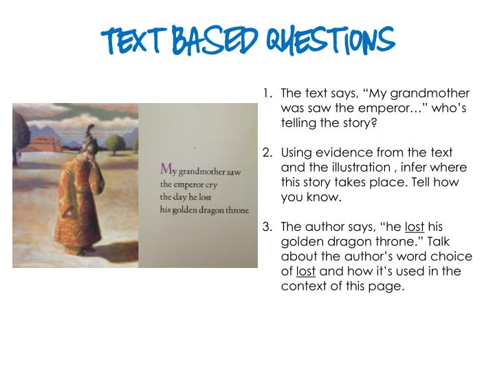 Text BASED Questions