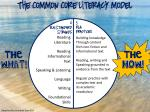 the common core literacy model