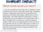 vocabulary complexity