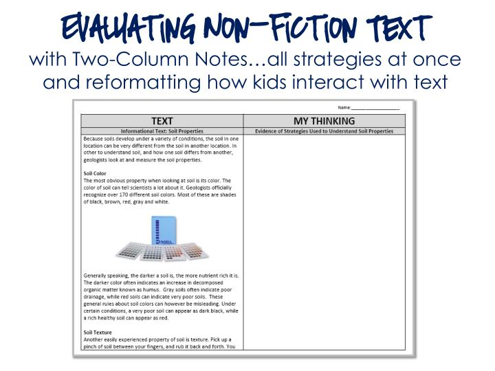 Evaluating Non-Fiction Text