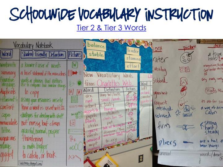 Schoolwide Vocabulary instruction