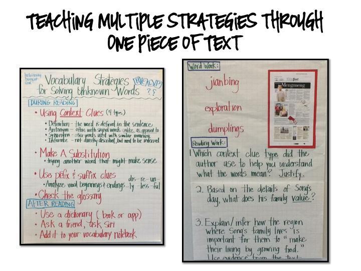 Teaching Multiple strategies through