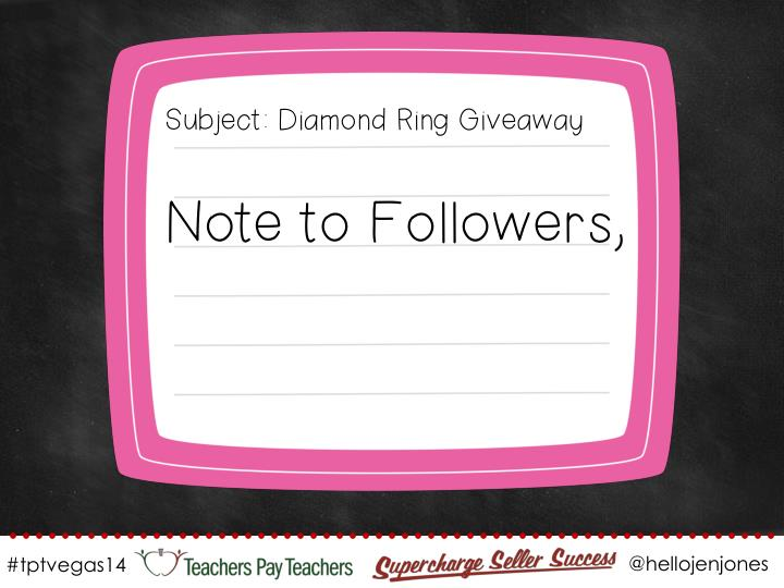 Subject: Diamond Ring Giveaway