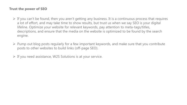 Trust the power of SEO