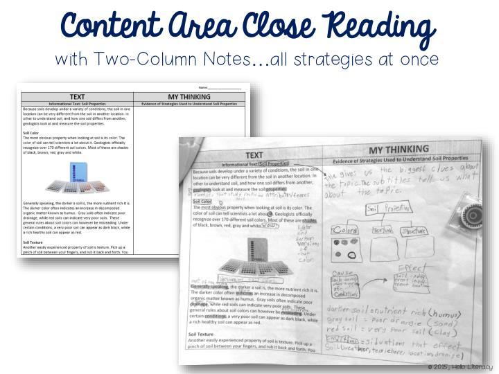 Content Area Close Reading