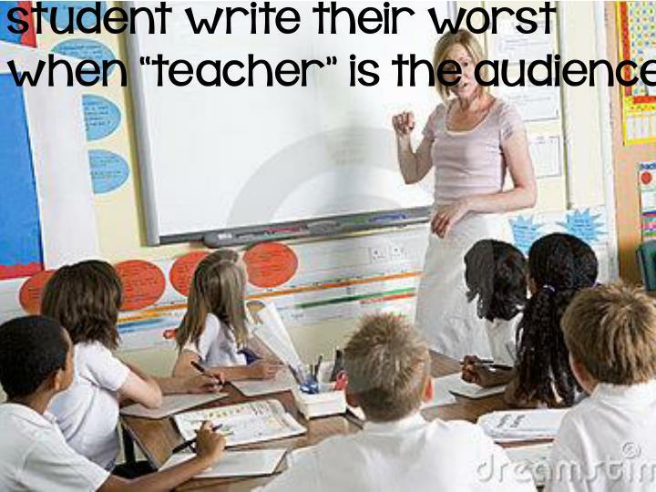 student write their worst
