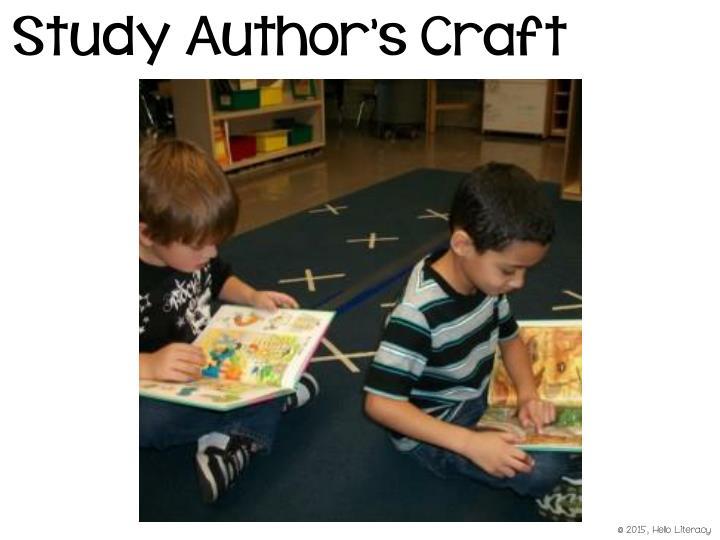 Study Author's Craft