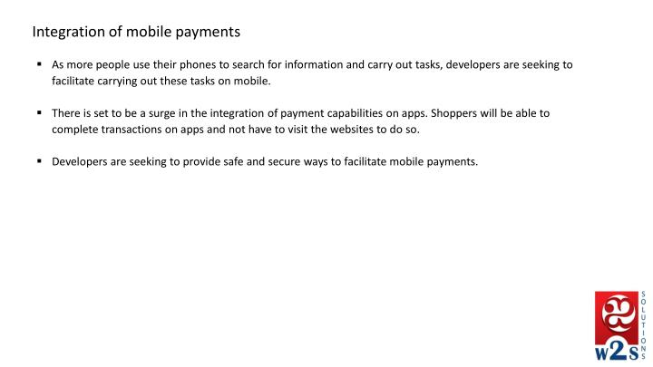 Integration of mobile payments