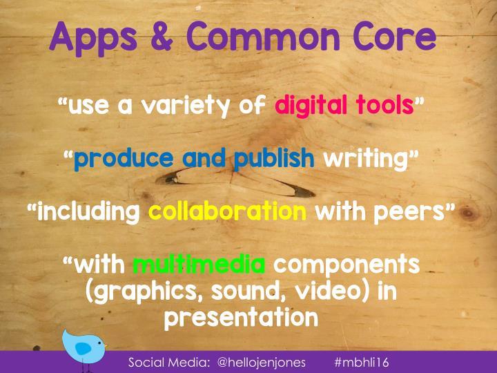 Apps & Common Core
